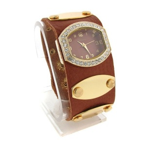 watch 502 08 wrist band gold brown