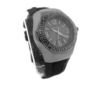 watch 515 08 lg rubber round gunmetal black