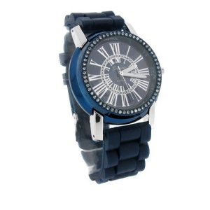 watch 521 08 lg rubber round silver blue