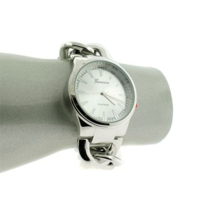 watch 557a 08 4520 chain round silver
