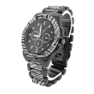 watch 560 08 link round gunmetal zebra