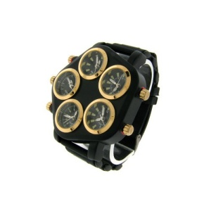 watch 665 08 pentagon world black gold