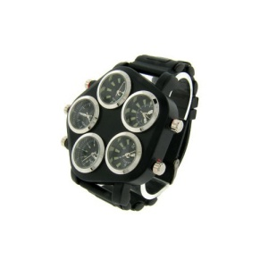watch 669 08 pentagon world black silver