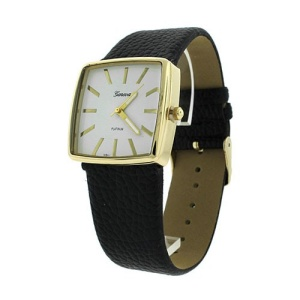 watch 688c 08 square metal gold black