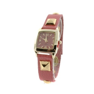 watch 729 08 square slim gold fuchsia