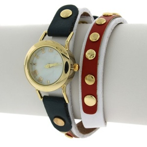 watch 810 88 round stud wrap around multi gold