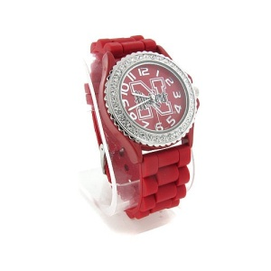 watch 838 08 huskers silver red