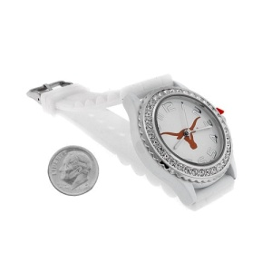 watch 839 08 sm rubber longhorn white