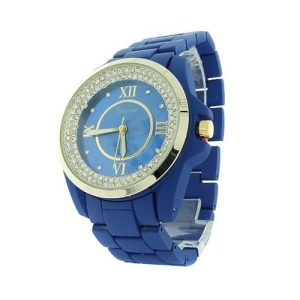 watch 844 08 link metal crystal gold blue
