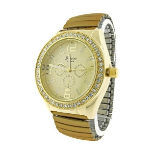 watch 854 08 stretch metal crystal gold