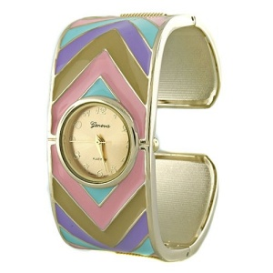 watch 860 08 chevron hinge multi gold