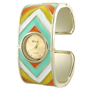 watch 861 08 chevron hinge multi gold