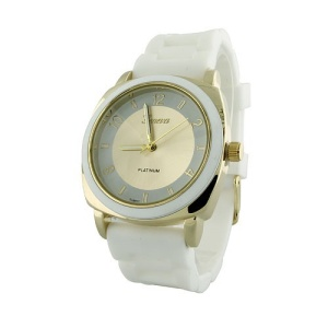 watch 865 08 rubber gold white