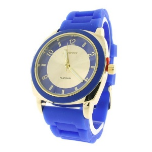 watch 868 08 rubber gold blue