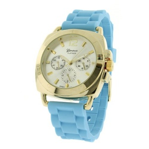 watch 921 08 2999 rubber band gold blue