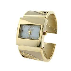 watch 933 08 8624 cuff bangle crystal gold beige