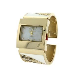 watch 934 08 8624 cuff bangle crystal gold white