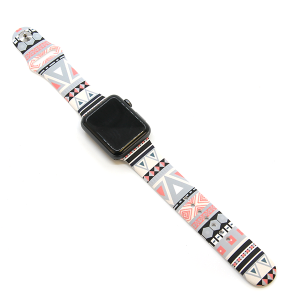 Watch Band 099b 08 Rubber Silicone Watch Band geometric abstract