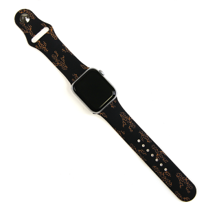 Watch Band 071d 08 Rubber Watch Band 38mm 40mm cactus leopard black
