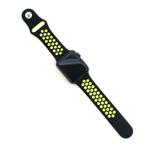 Watch Band 011b Loop Sport watch band 42mm 44mm black yellow