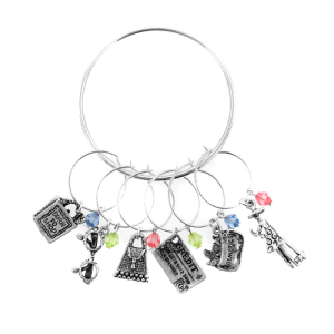 wine charm 077 20 shopping silver multi