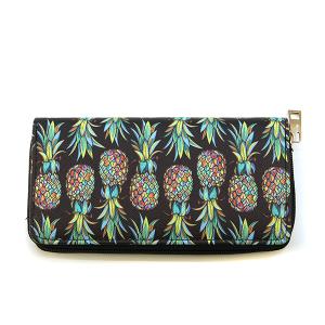 Bijorca Zipper Wallet Pineapple black