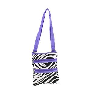 yh 003 163 messenger bag zebra light purple