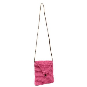 ys p 933s straw flap bag fuchsia