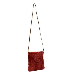 ys p 933s straw flap bag red