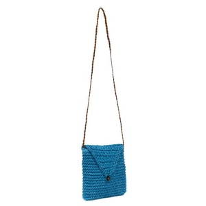ys p 933s straw flap bag turquoise