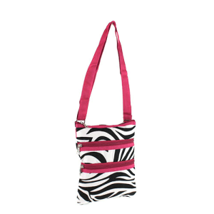 Luggage 003 163 YH zebra messenger bag fuchsia