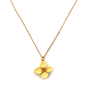 Necklace 161 01 Influence floral color petals yellow