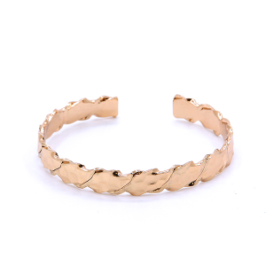 (Bracelet 701b 01 CiTY) cuff band hexagon pattern gold