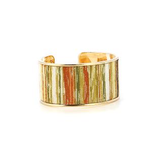 Bracelet 325 01 CiTY striped contemporary bangle gold green multi