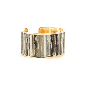 Bracelet 286 01 CiTY striped contemporary bangle gold gray