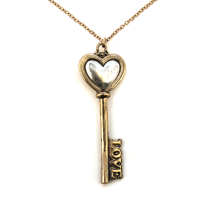 Necklace 003 01 CiTY love key necklace gold