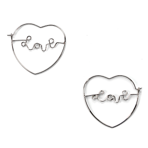 Earring 2548f 01 Influence heart earrings love silver