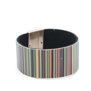 Bracelet 389a 01 CiTY stripe bracelet magnetic band brown multi