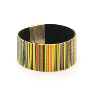 Bracelet 388e 01 CiTY stripe bracelet magnetic band yellow multi