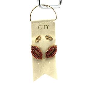 Earring 2905a 01 City 2 stud earring set heart valentines