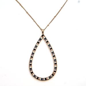 Necklace 1085a 01 CiTY contemporary  tear drop hoop