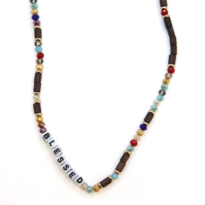 Necklace 1995a 01 CiTY Bead Jewel Blessed Necklace multicolor
