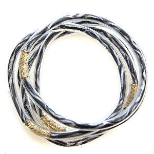 Bracelet 559b 01 CiTY 5 pc bracelet stack rubber zebra