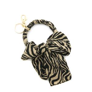 Keychain 027f 04 clover zebra hoop brown