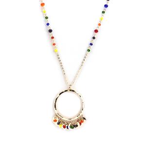 Necklace 793e 04 Para Ti contemporary colorful bead hoop necklace multicolor