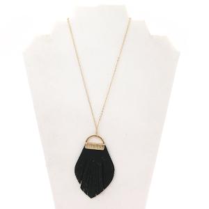 Necklace 1755A 81 City fringe drop black