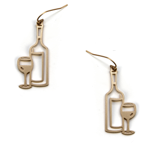 Earring 393c 06 V Wine Earrings Gold