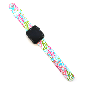Watch Band 021a 08 silicon rubber 38mm 40mm neon multicolor