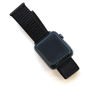 Watch Band 026 08 velcro soft knit band 38mm 40mm black