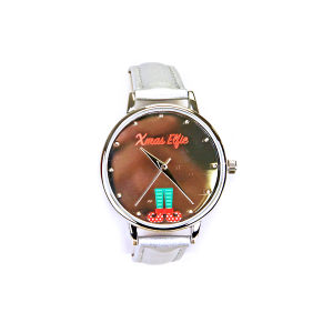 Christmas watch 093 08 xmas elfie chrome silver mirror